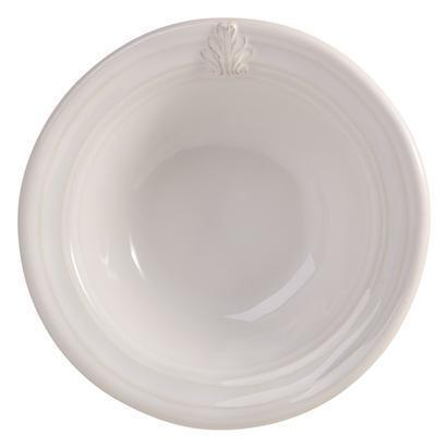 Acanthus Whitewash Cereal/Ice Cream Bowl
