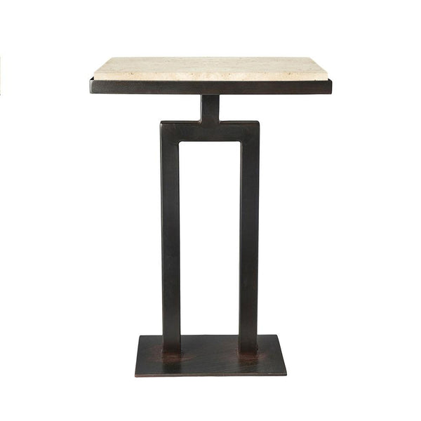 Rectangular Torreon Stone Side Table