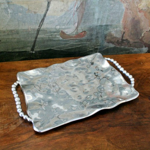 PEARL Rectangular Tray with Perla Handles