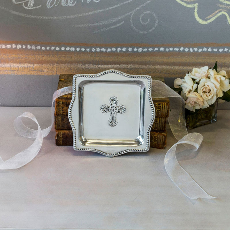 "BABY Cross Square Tray 4""x4"""
