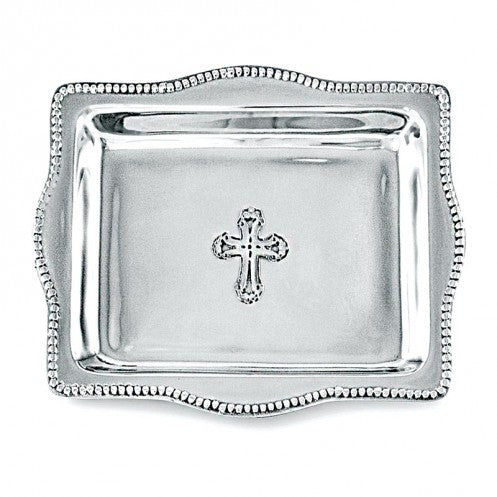 "BABY Cross Rectangular Tray 4""x6"""