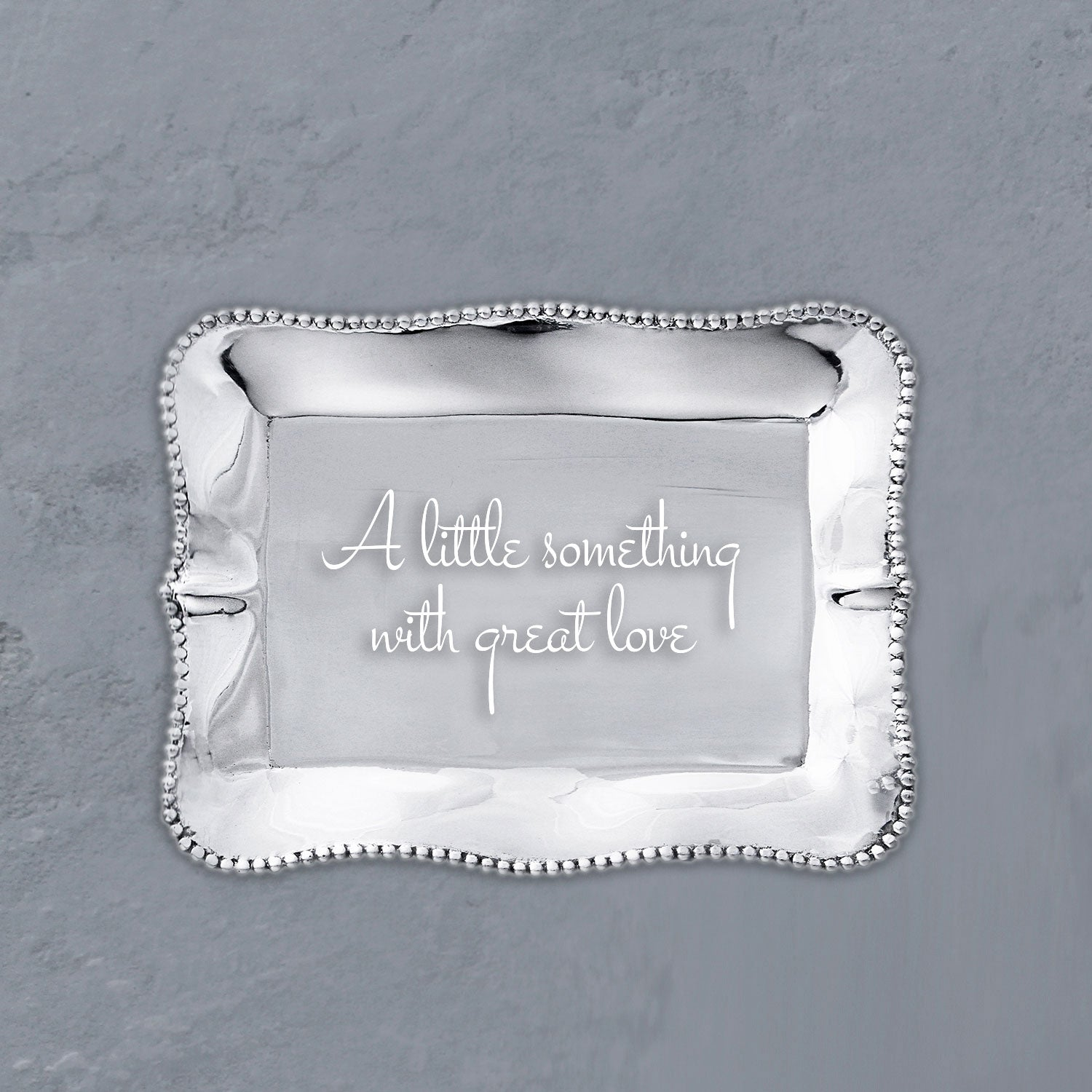 "GIFTABLES Pearl Tray ""A Little Something with Great Love"""