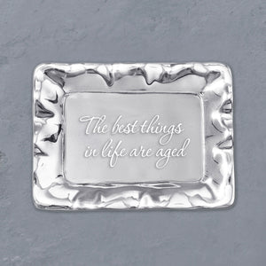 "GIFTABLES Vento Tray ""The best things in life are aged"""