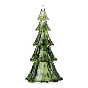 "Berry & Thread Stackable Glass Tree 16"" Tree Large Tower Set/5 Evergreen (includes all Tree Tiers)"