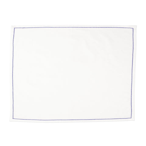 Cotone Linens Ivory Placemats with Stitching - Set of 4