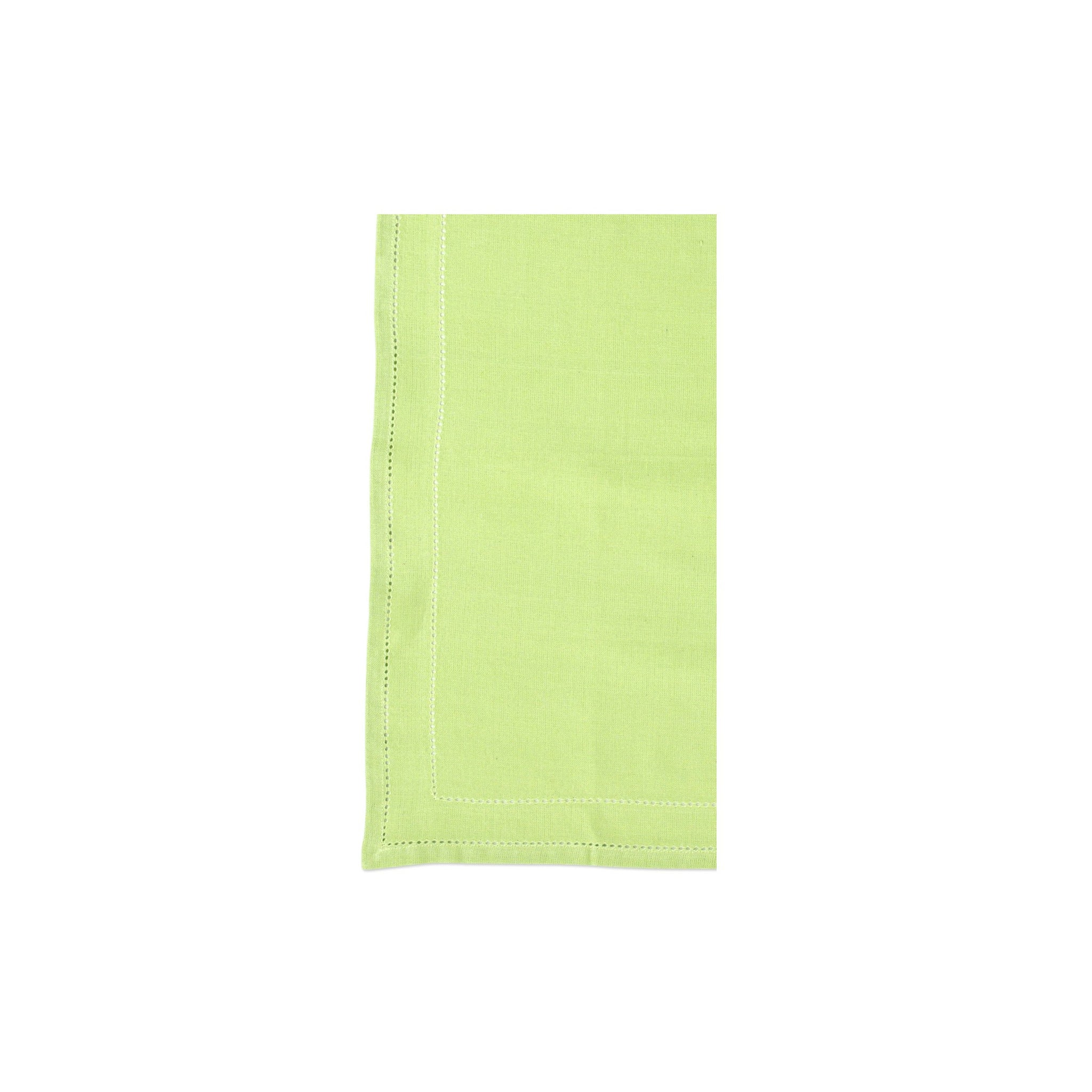 Cotone Linens Pistachio Napkins with Double Stitching - Set of 4