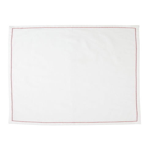 Cotone Linens Placemats with Red Stitching - Set of 4