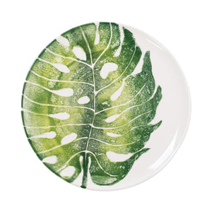 Into the Jungle Monstera Leaf Dinner Plate