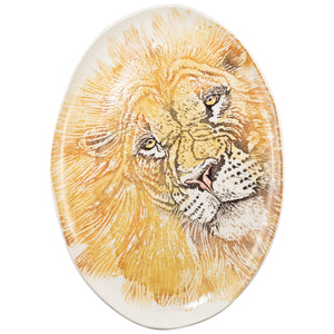 Into the Jungle Lion Large Oval Platter
