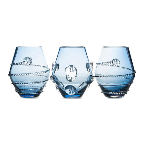 Amalia Assorted Mini Blue Vases Set/3