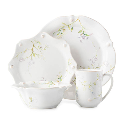 Berry & Thread - Floral Sketch Jasmine 4 pc Place Setting