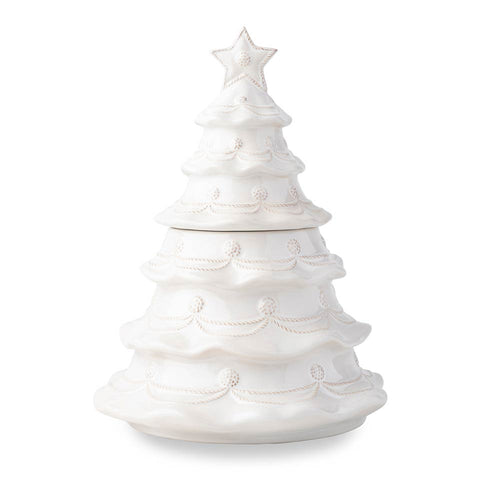 Berry & Thread - Kitchen & Baking Whitewash Christmas Tree Cookie Jar