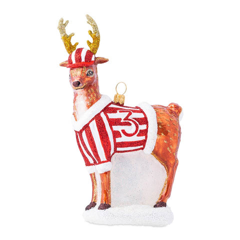 Ornaments Country Estate Reindeer Games Donner the Reindeer Glass Ornament