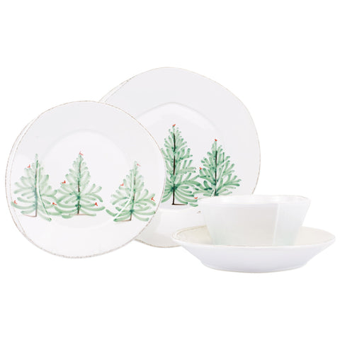 Lastra Holiday Four-Piece Place Setting