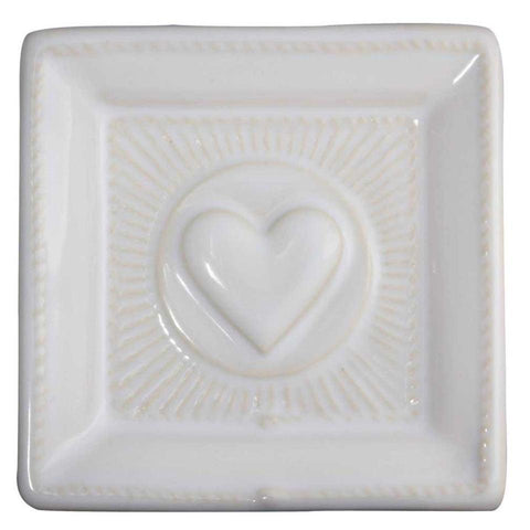 "Berry & Thread - Kitchen & Baking Whitewash Love 3.5"" Tray"