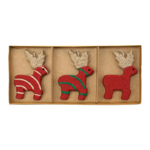 Ornaments Assorted Reindeer Ornaments - Set of 3