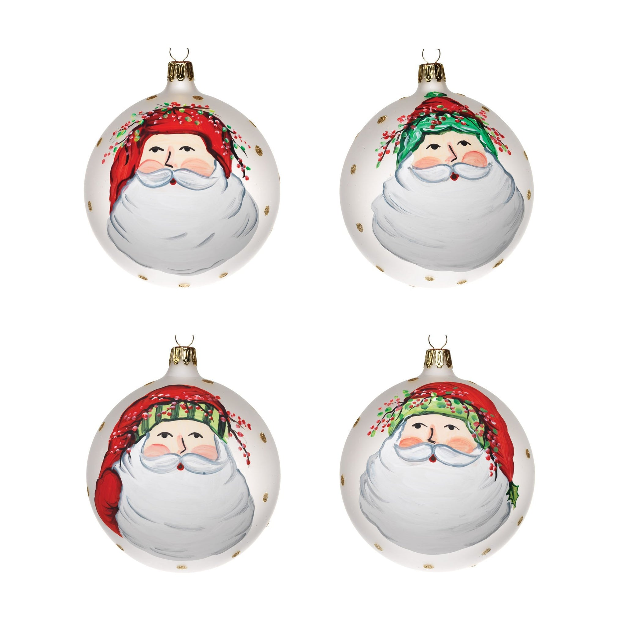 Old St. Nick Assorted Ornaments - Set of 4