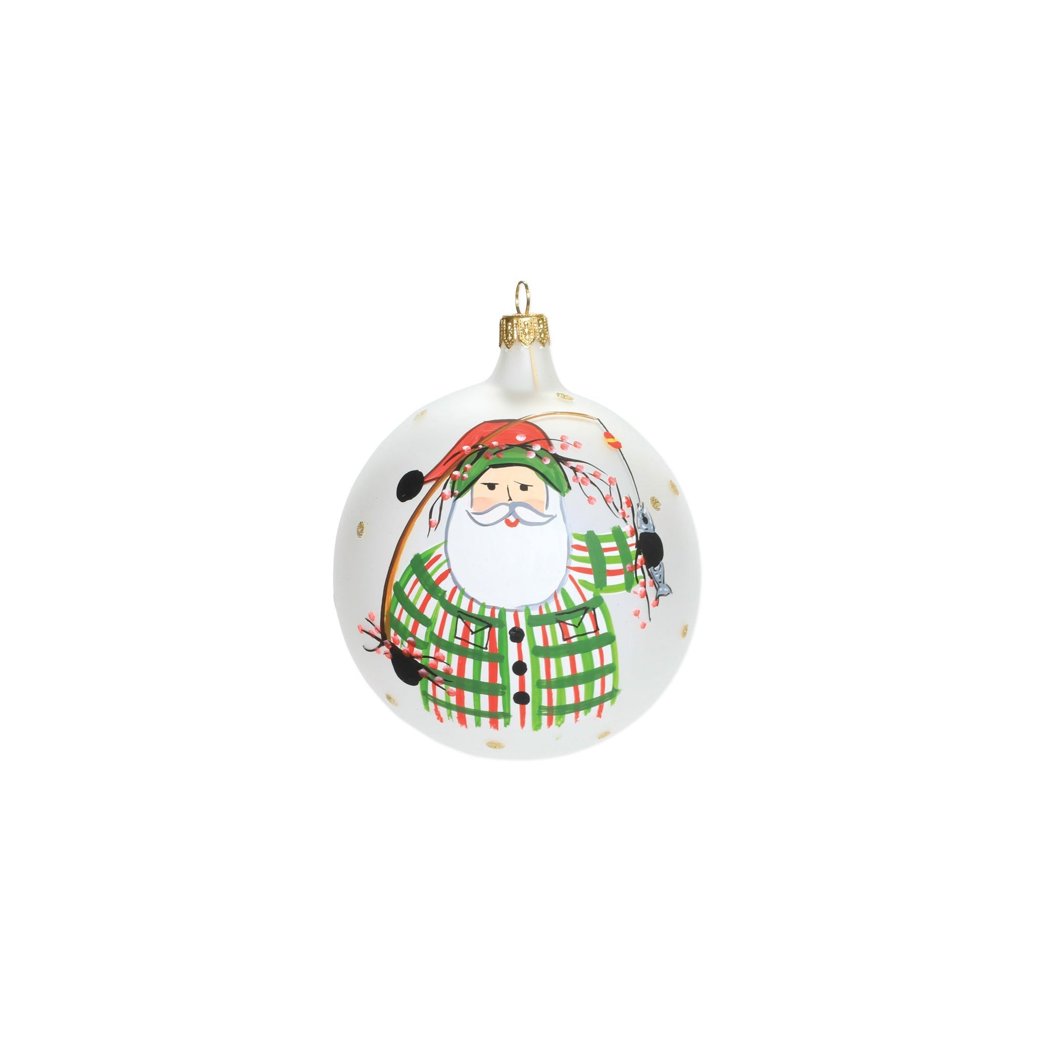 Old St. Nick Fishing Ornament