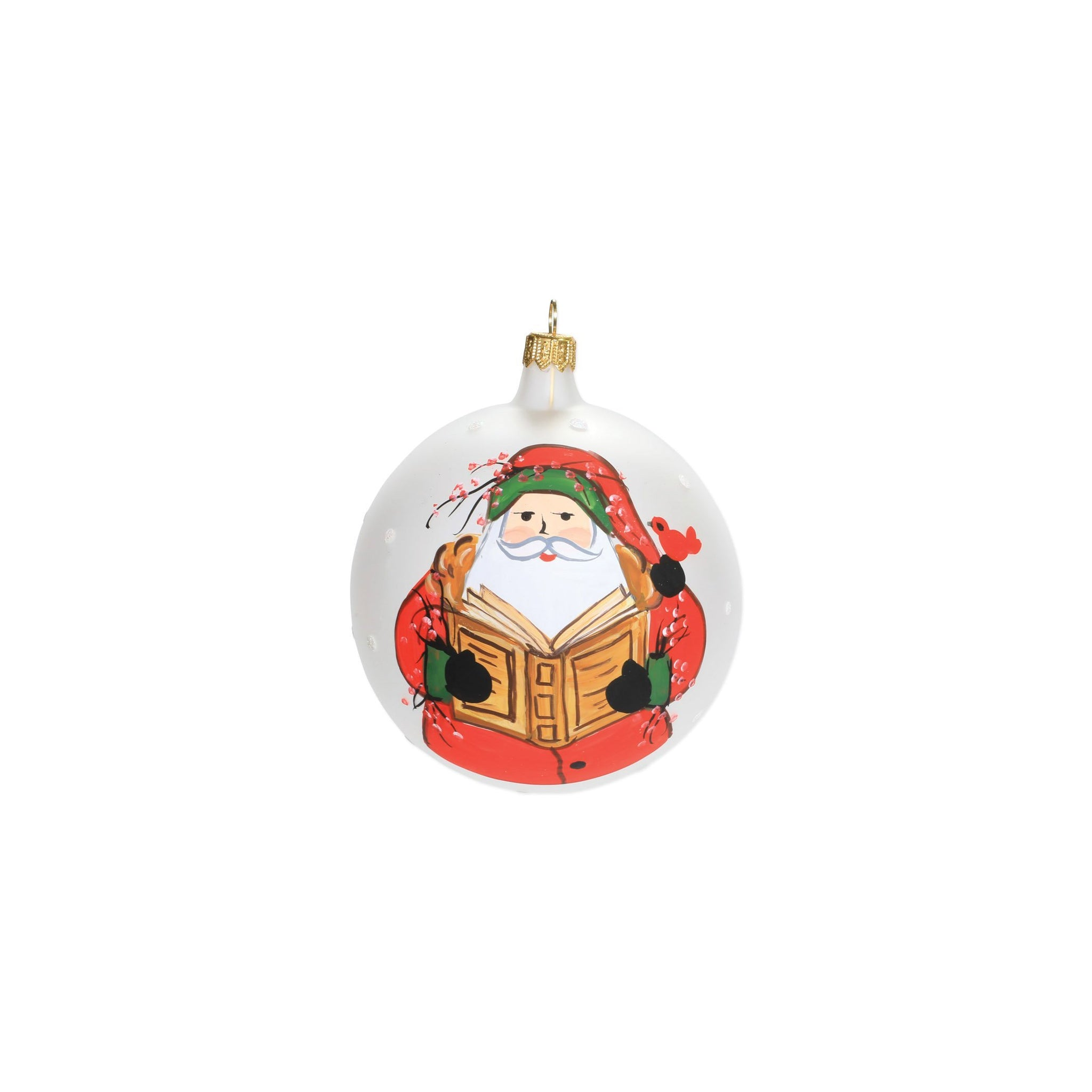Old St. Nick Reading Ornament