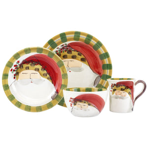 Old St. Nick Animal Hat Four-Piece Place Setting