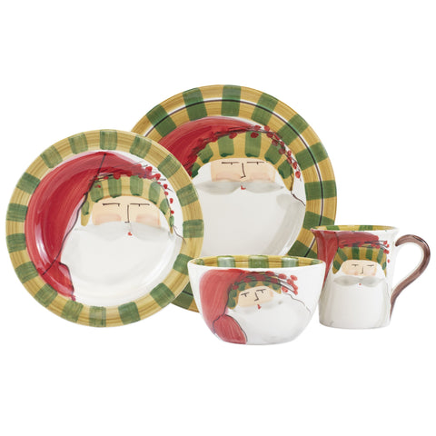 Old St. Nick Striped Hat Four-Piece Place Setting