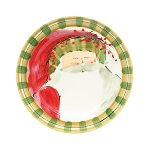 Old St. Nick Dinner Plate - Striped Hat