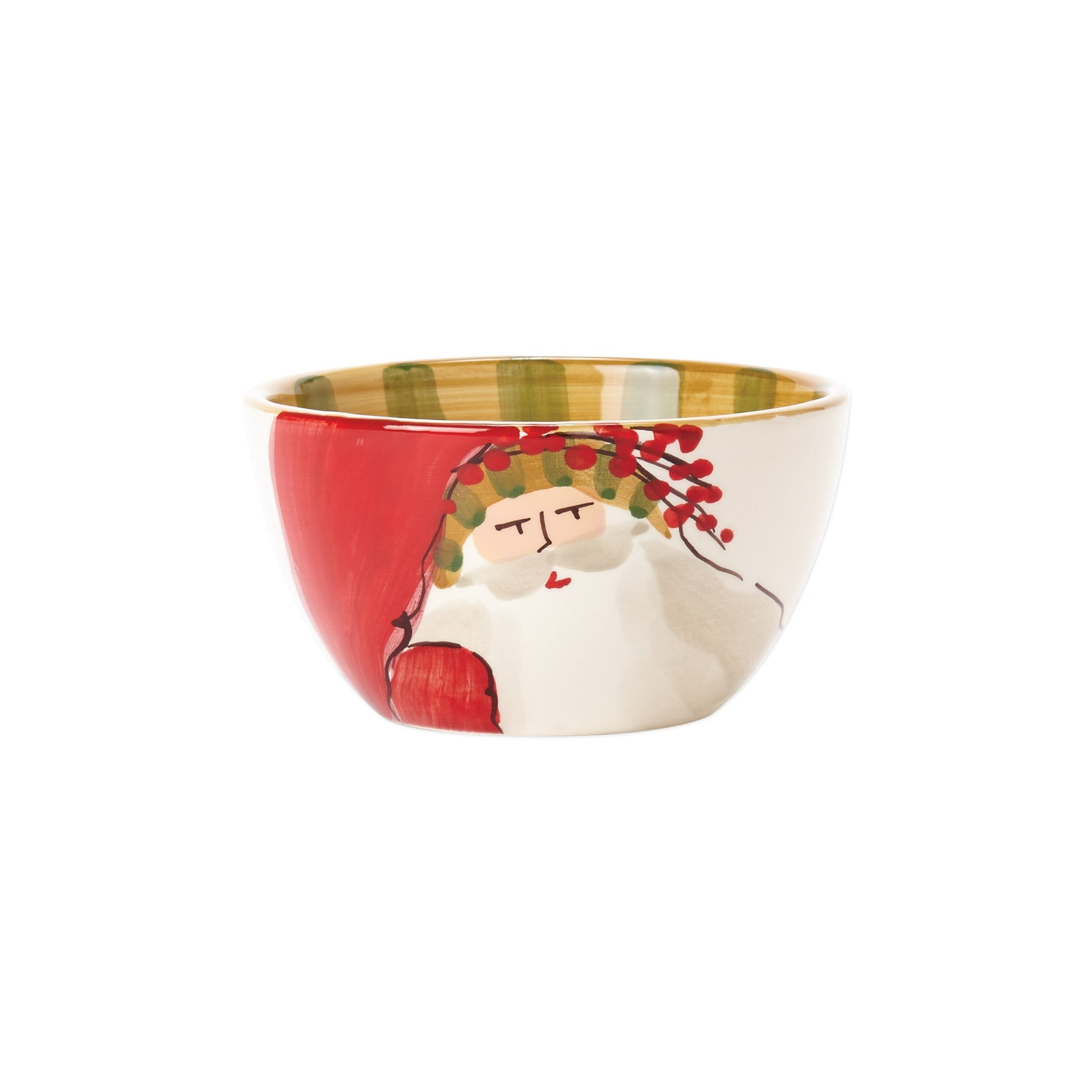 Old St. Nick Cereal Bowl - Striped Hat