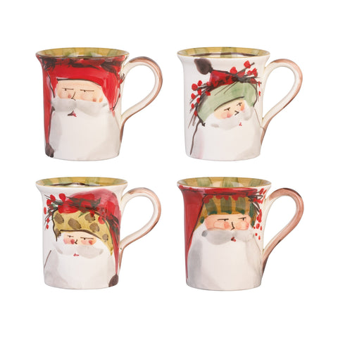 Old St. Nick Assorted Mugs - Set of 4