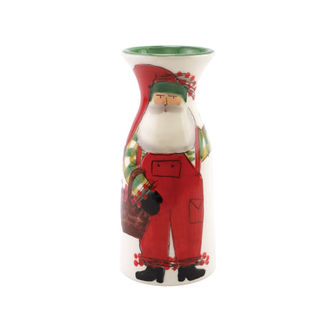 Old St. Nick Wine Carafe w/ Grapes