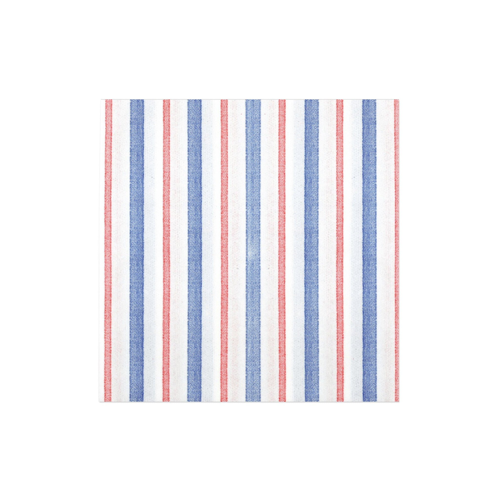 Papersoft Napkins Americana Stripe Dinner Napkins (Pack of 50)