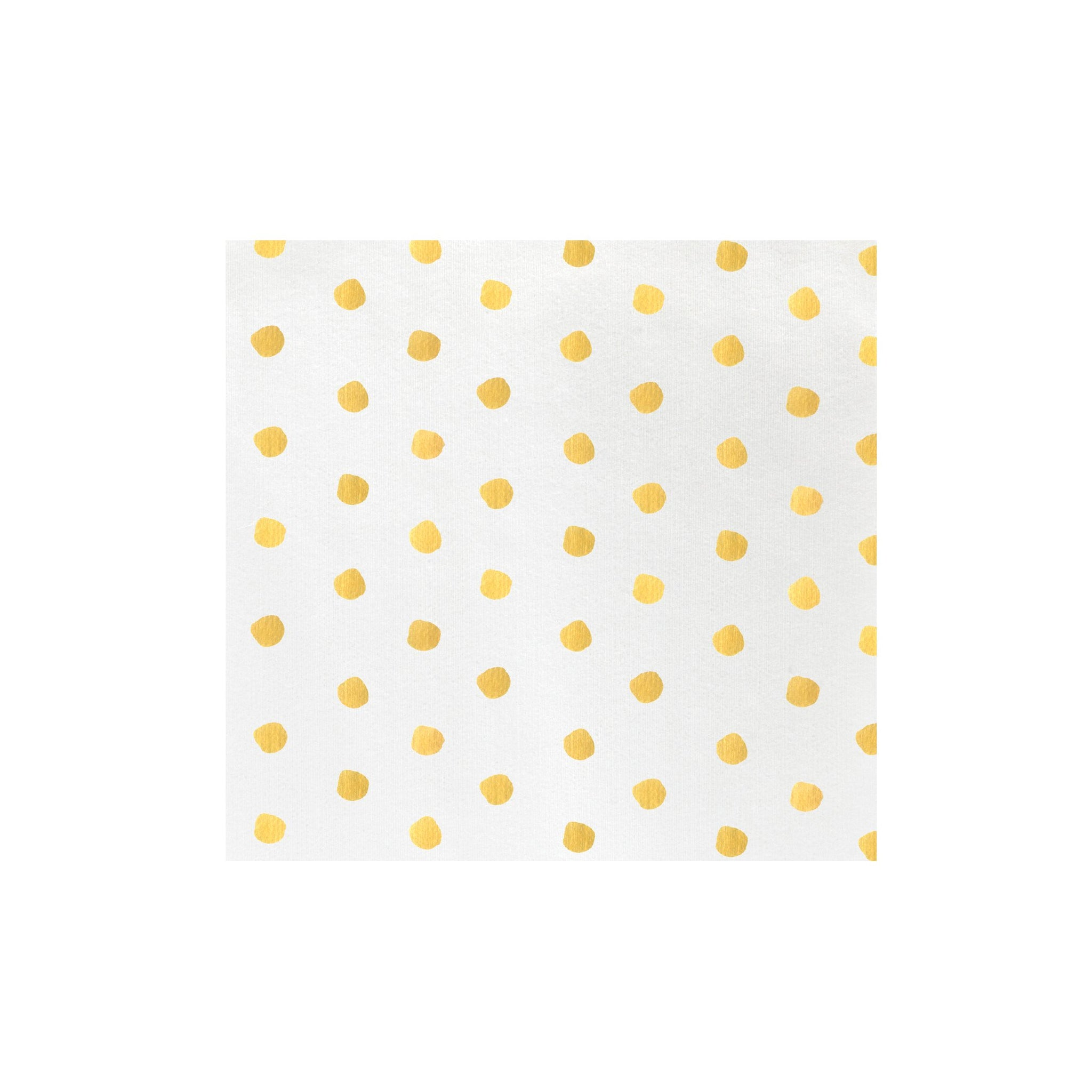 Papersoft Napkins Yellow Dot Dinner Napkins (Pack of 50)