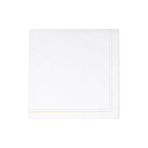 Papersoft Napkins Linea Yellow Dinner Napkins (Pack of 50)