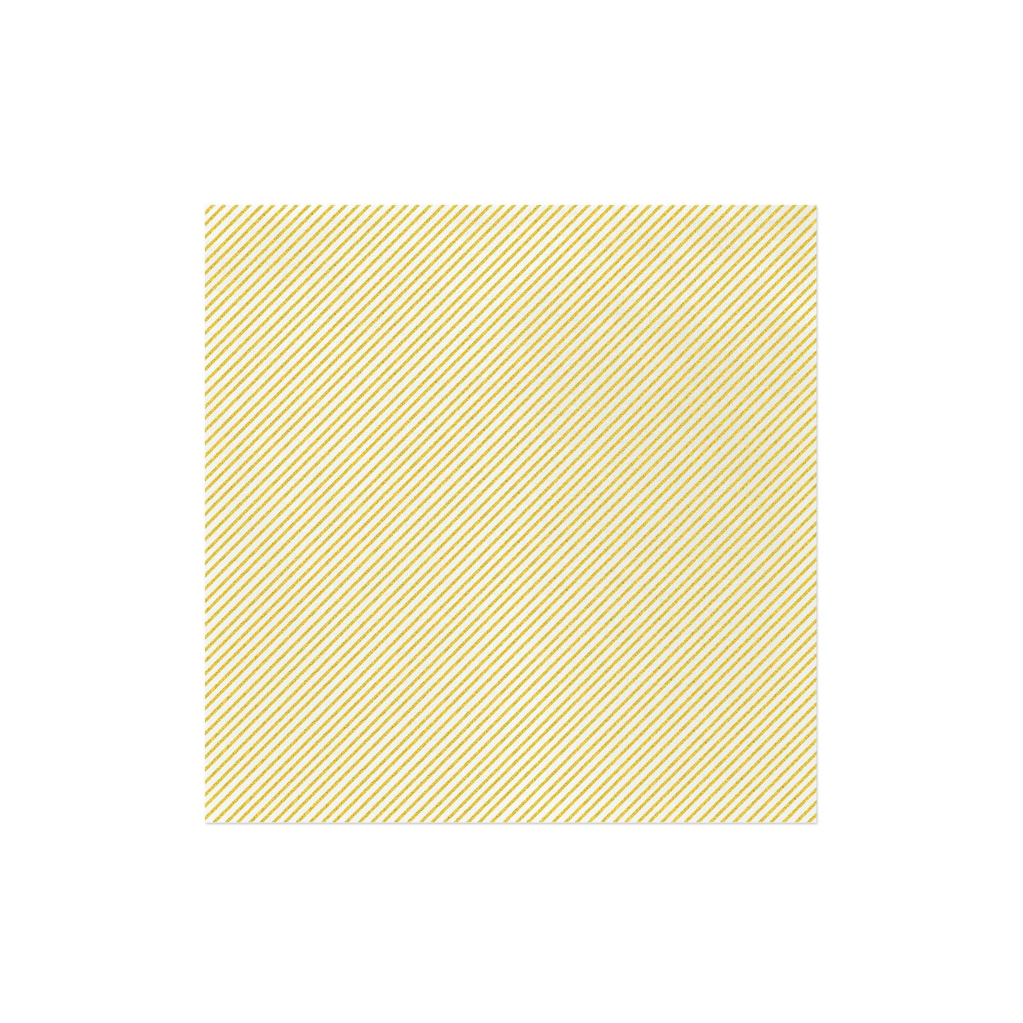 Papersoft Napkins Seersucker Stripe Yellow Dinner Napkins (Pack of 50)