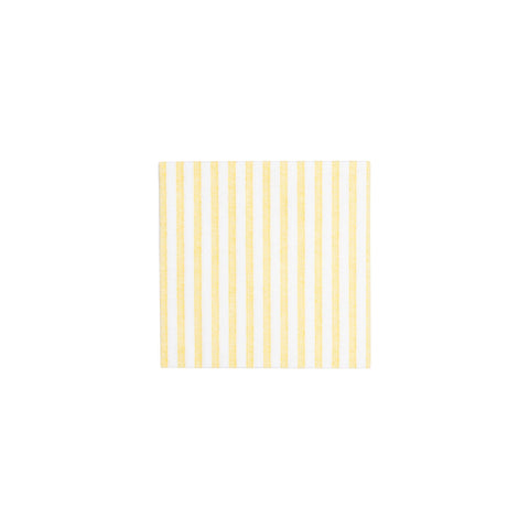 Papersoft Napkins Capri Yellow Cocktail Napkins (Pack of 20)