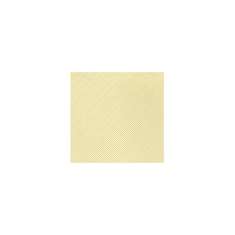 Papersoft Napkins Seersucker Stripe Yellow Cocktail Napkins (Pack of 20)