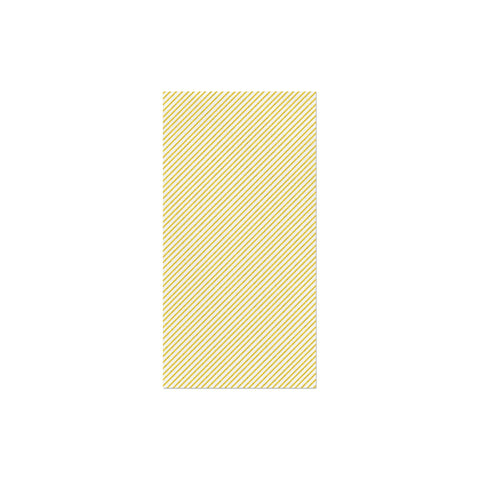 Papersoft Napkins Seersucker Stripe Yellow Guest Towels (Pack of 50)
