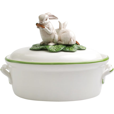 Spring Vegetables Tureen w/ Bunnies
