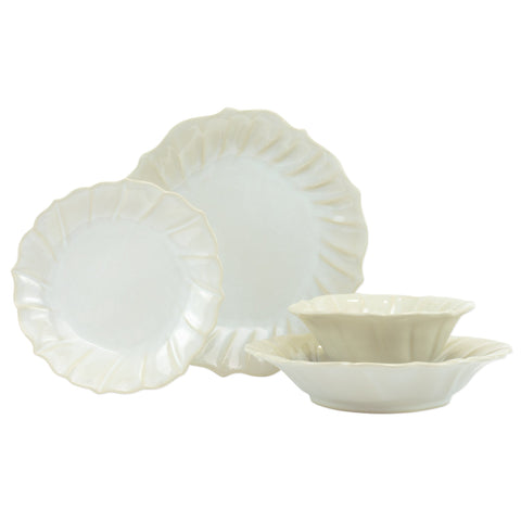 Incanto Stone Ruffle Four-Piece Place Setting
