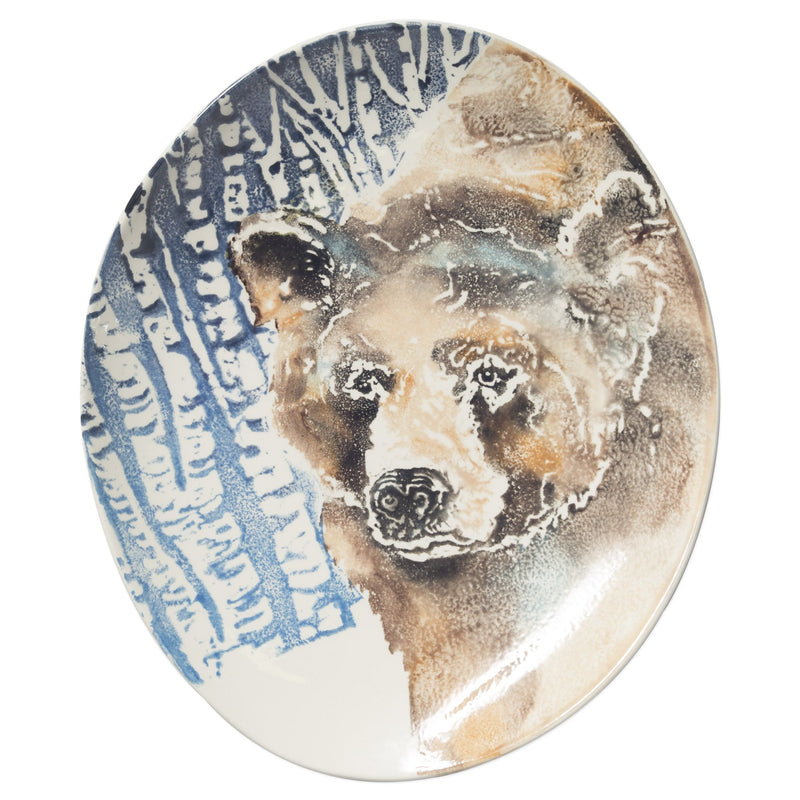 Into The Woods Bear Oval Platter