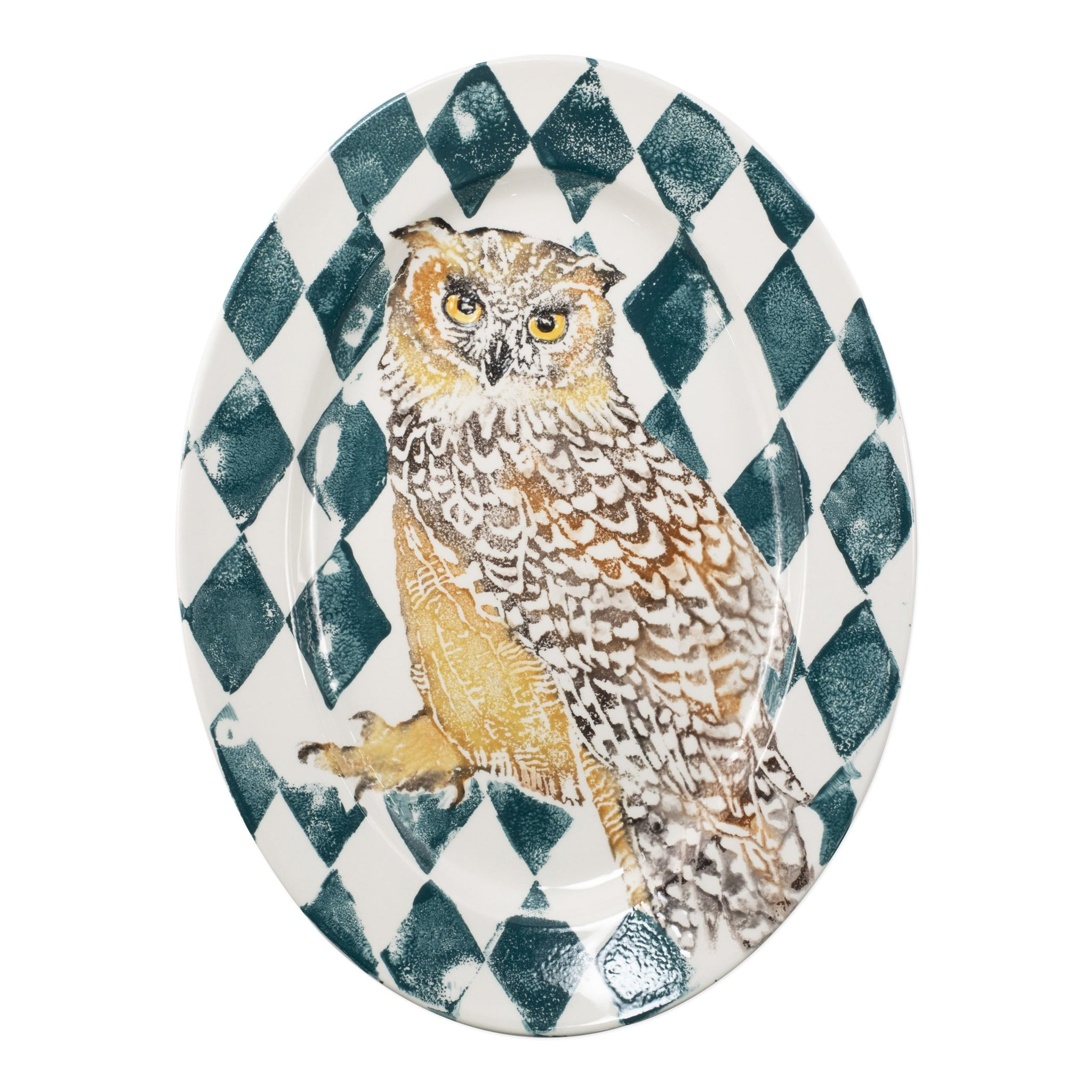 Into the Woods Owl Oval Platter