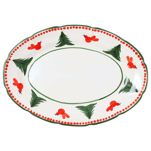 Campagna Uccello Rosso Oval Platter
