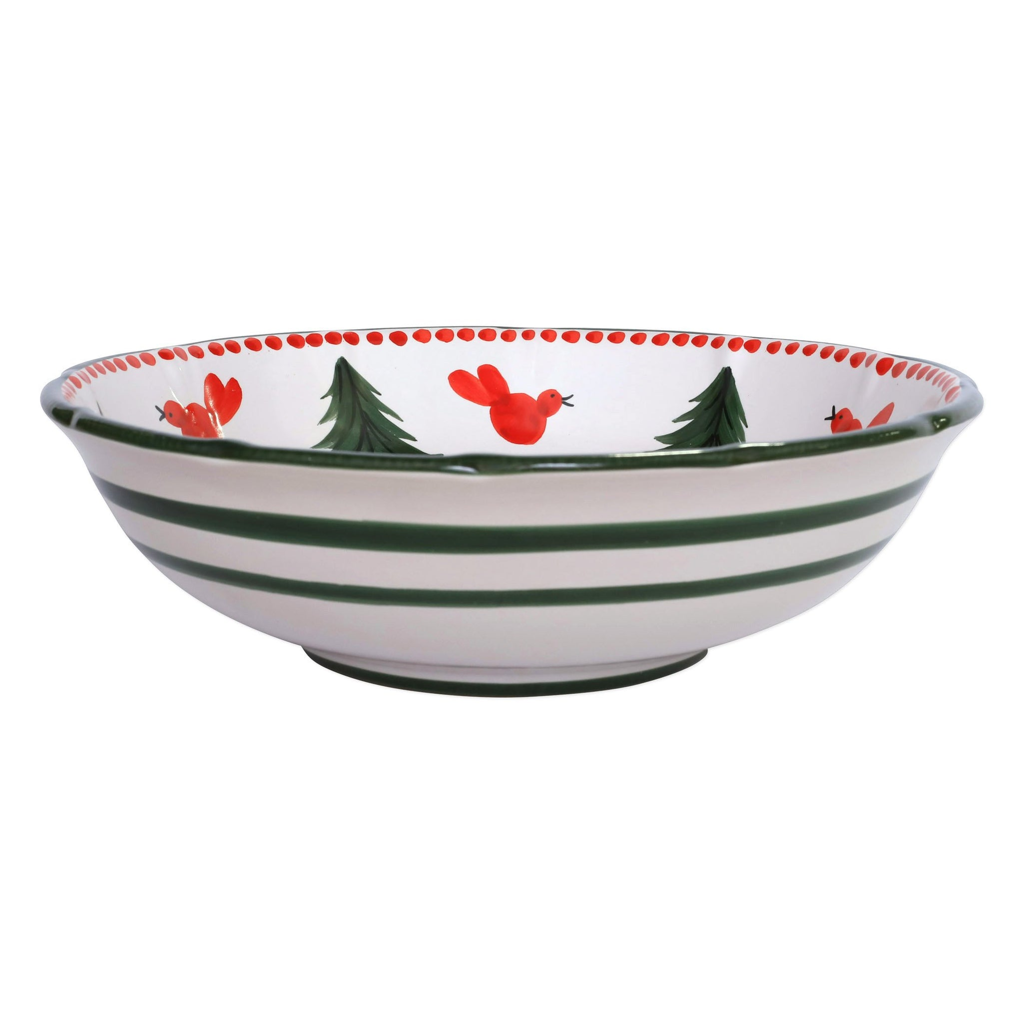 Campagna Uccello Rosso Large Serving Bowl