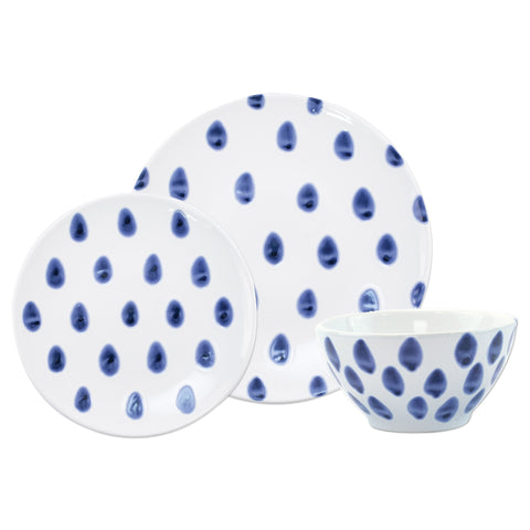 Santorini Dot 3-Piece Place Setting