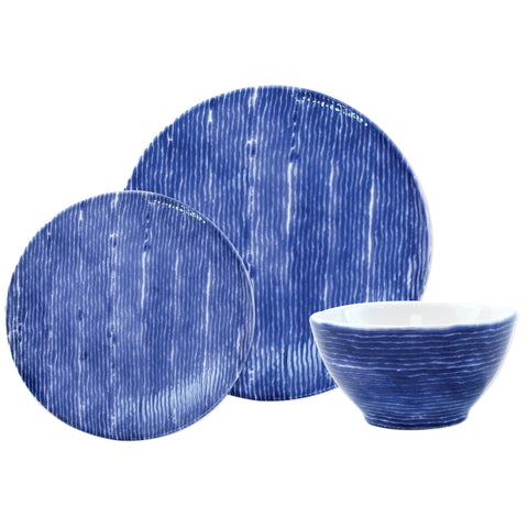 Santorini Stripe 3-Piece Place Setting