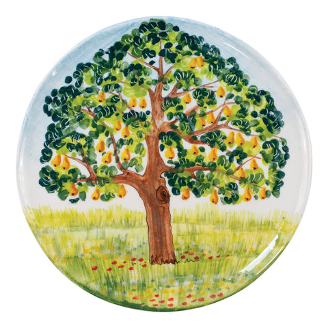 Wall Plates Pear Tree Round Wall Plate