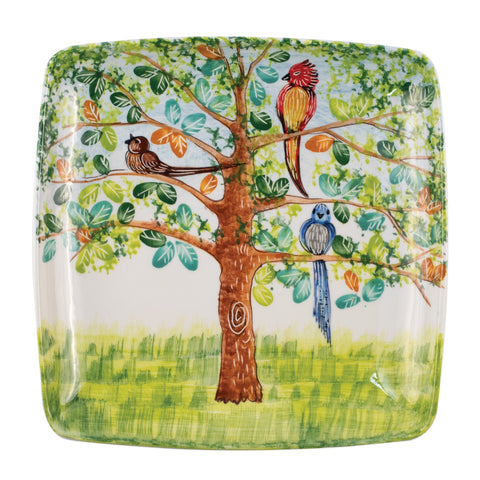 Wall Plates Birds Square Wall Plate