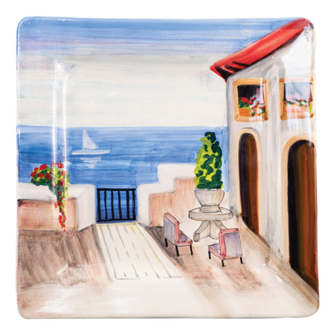 Wall Plates Seaside Villa Square Wall Plate