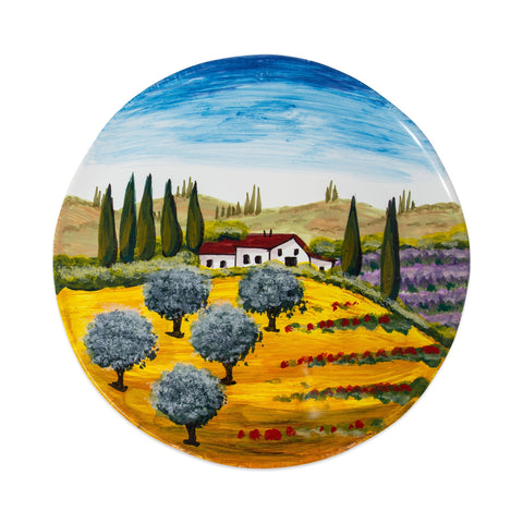 Wall Plates Tuscany Round Wall Plate