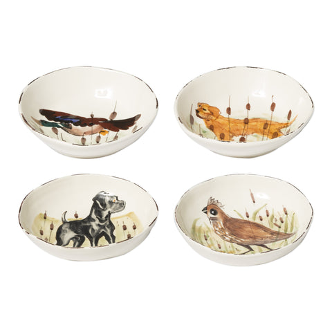 Wildlife Assorted Pasta Bowls - Set of 4