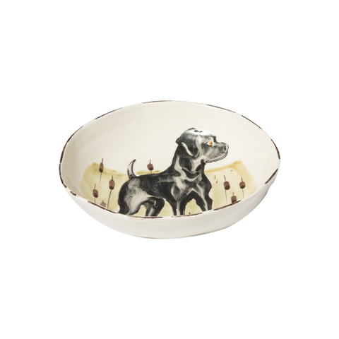 Wildlife Black Hunting Dog Pasta Bowl